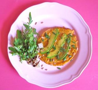 Vegane Avocado-Pfannkuchen.