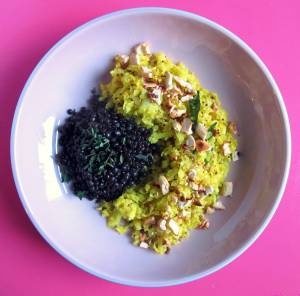 blumenkohl-couscous couscous glutenfrei-couscous ayurveda-couscous ayurveda rolling tiger beluga-linsen beluga-balsamico copyright by julia wunderlich