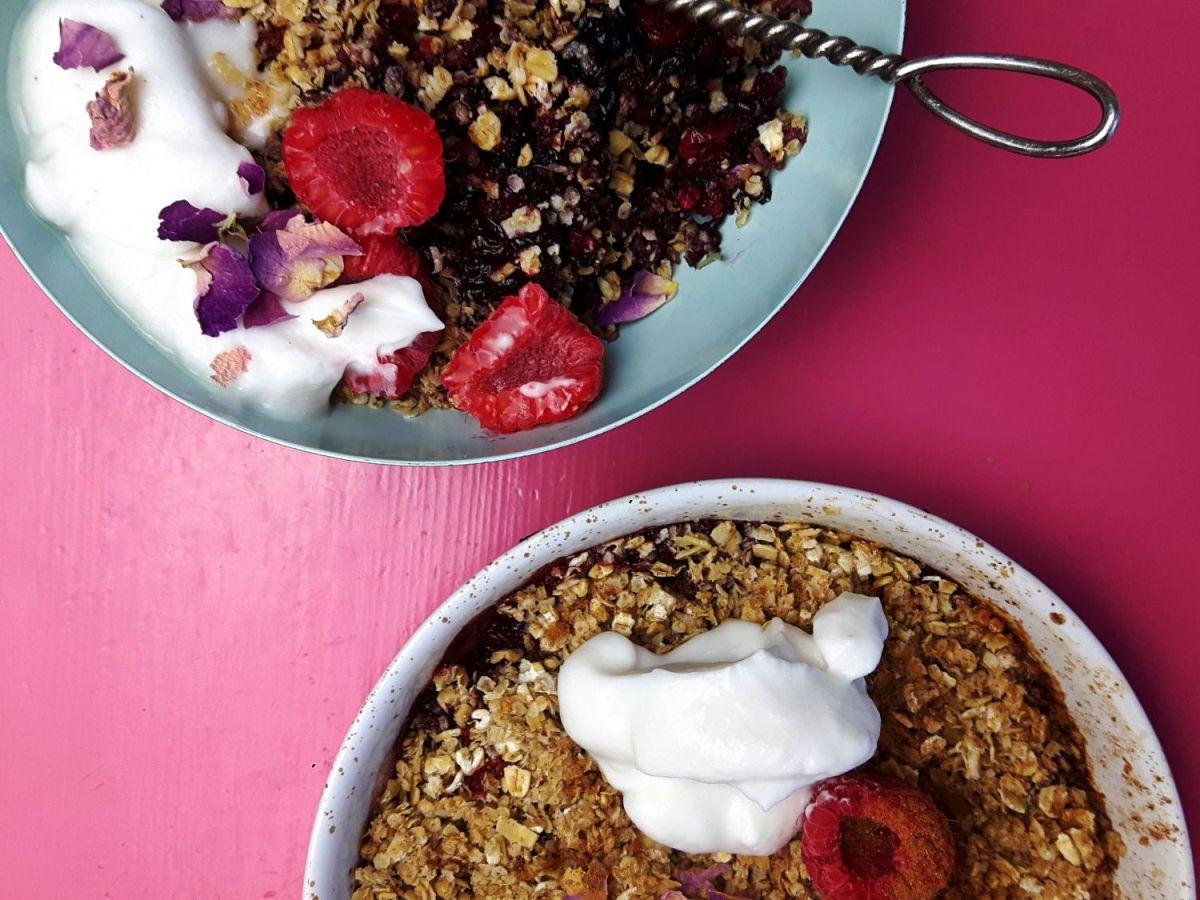 ayurveda desert crumble berries glutenfree
